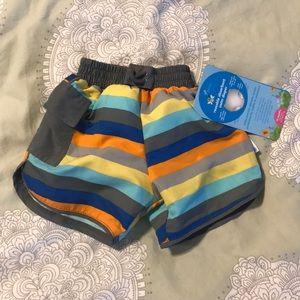 NWT iPlay swim diaper trunks striped